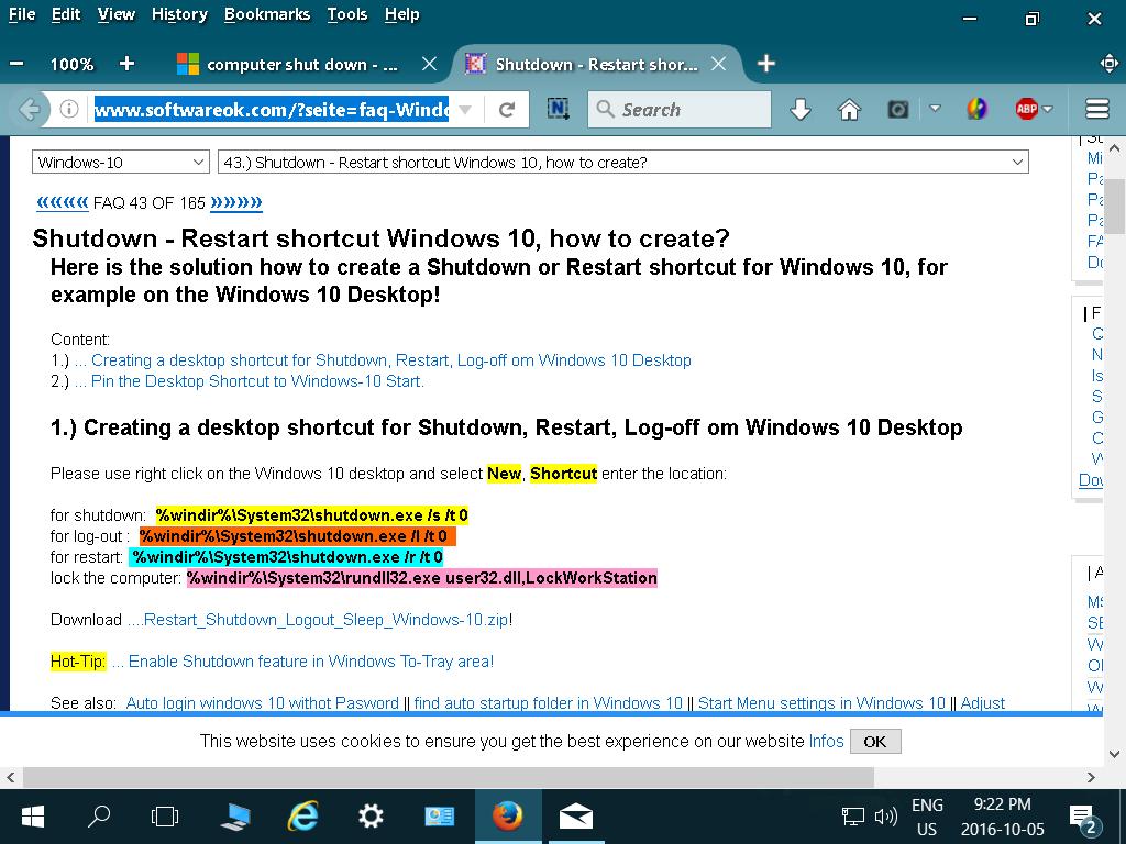 computer shut down - Microsoft Community