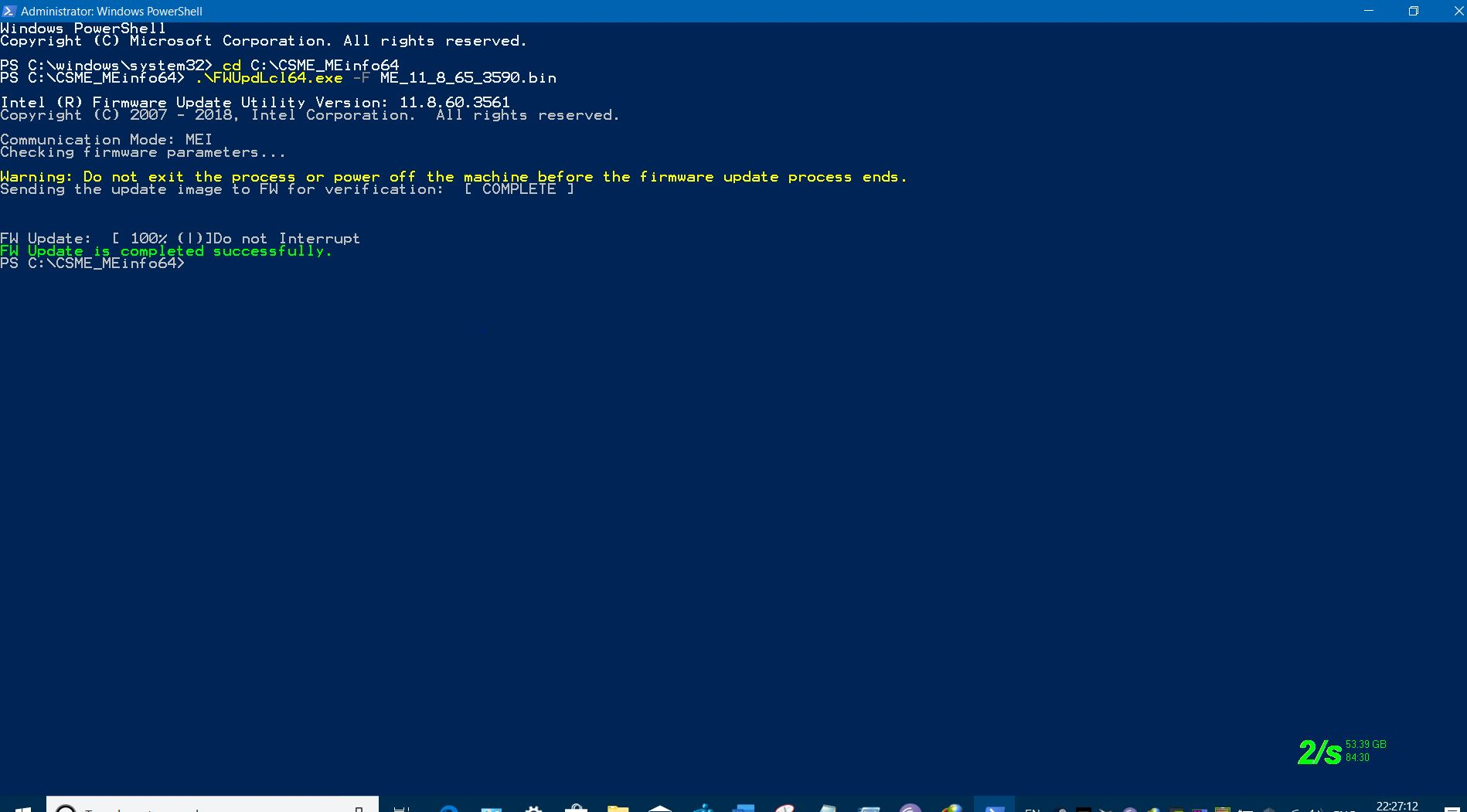 UPDATED INTEL MANAGEMENT ENGINE FIRMWARE 11 8 65 3590 DATED