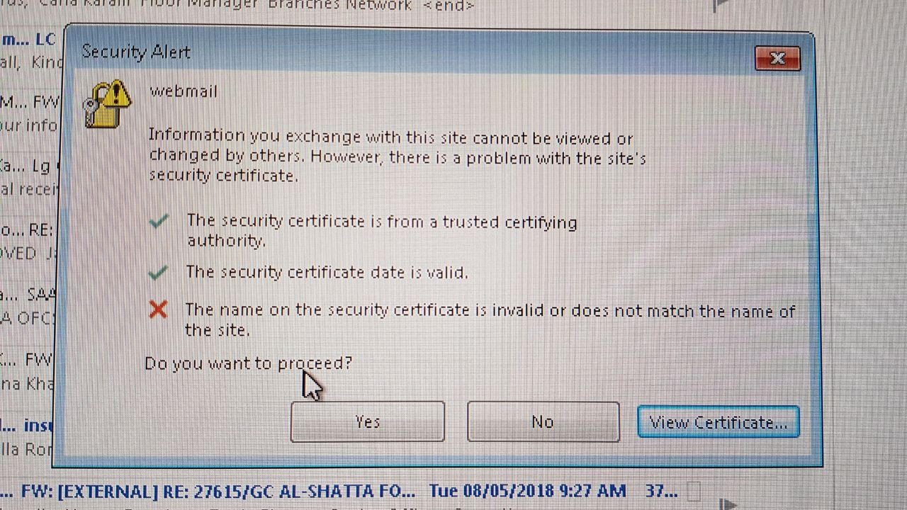 Exchange Certificate Issue Microsoft Partners Forum