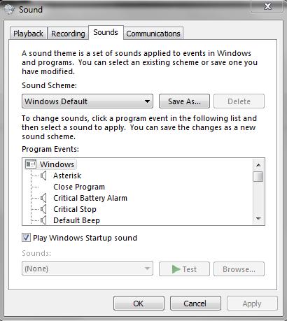 Windows 7 Startup Sound Doesn't Play - Microsoft Community