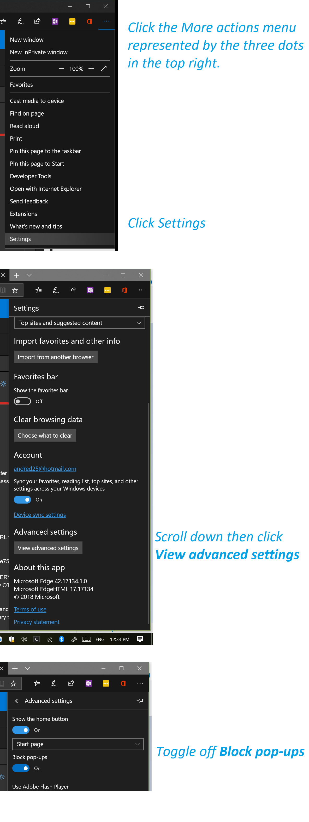 how do I enable adblocker on microsoft edge - Microsoft ...