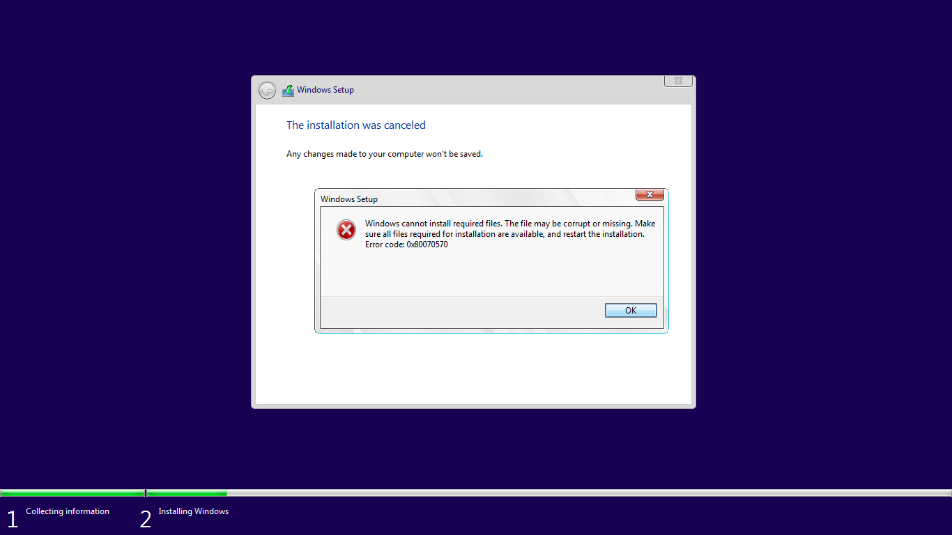New iso downloaded: Fails to install - Microsoft Community
