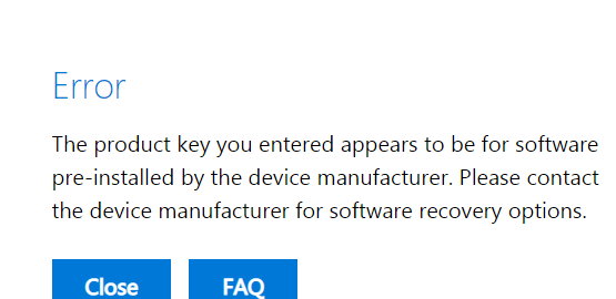 I have a problem entering the Product key when i need download