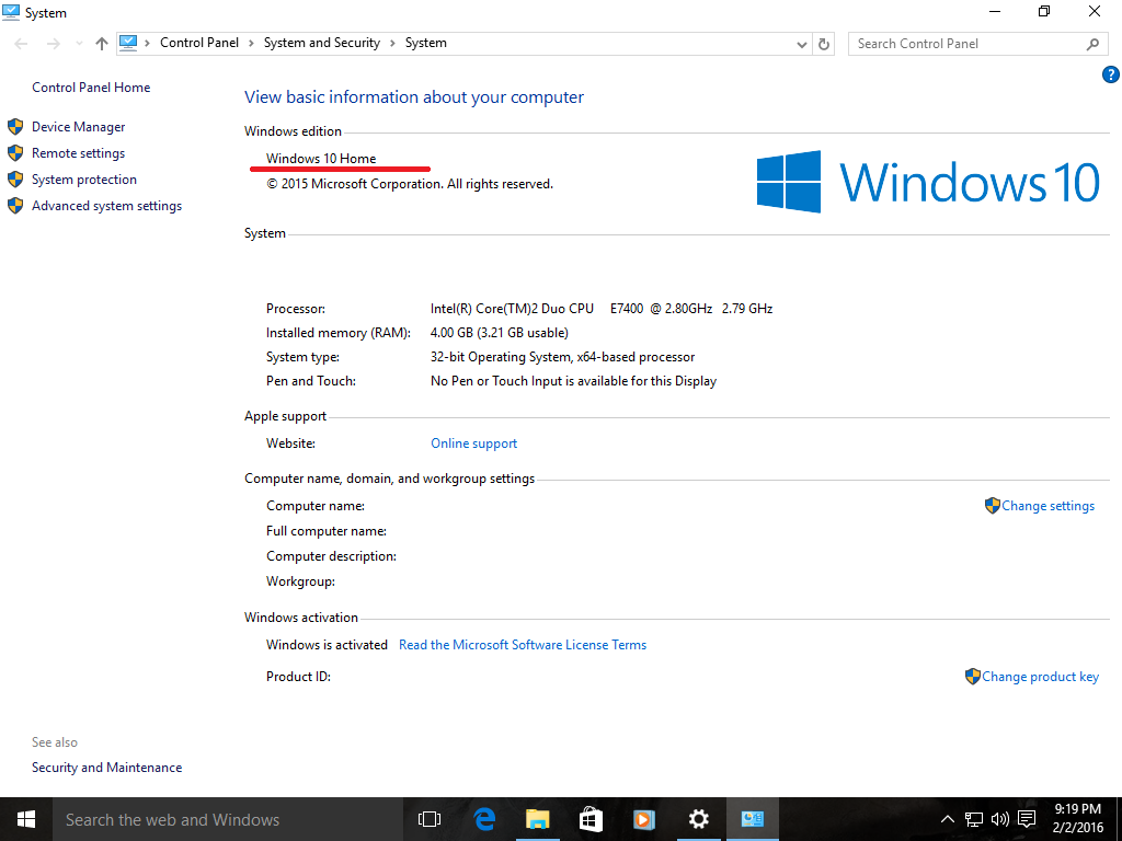 Windows 10 Home Edition Or Core Edition What I Own Microsoft Community
