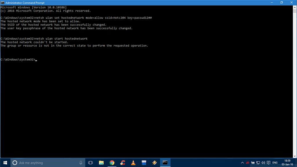 No virtual wifi adapter in network adapter settings in Windows 10