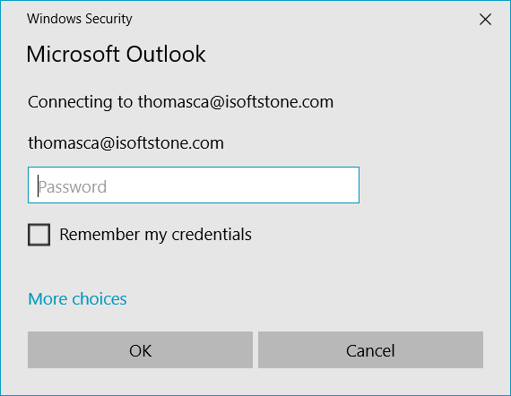 COM Surrogate login dialog continously shows up, Outlook