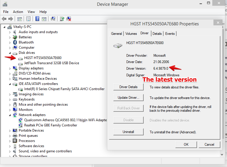 Disappear hard disk driver Windows Technical Preview 9879