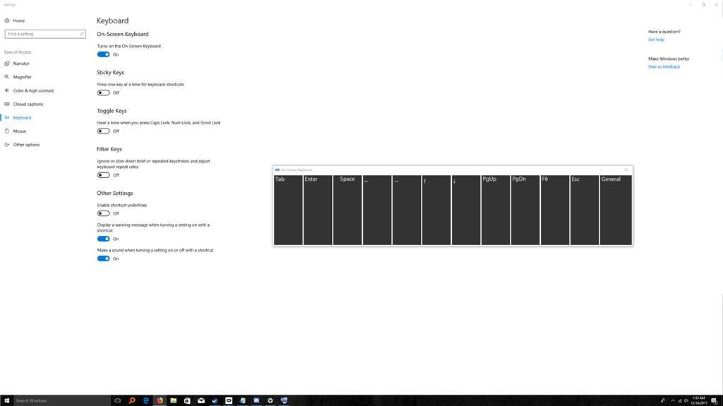 My onscreen keyboard has huge keys since Oculus Dash update, How can