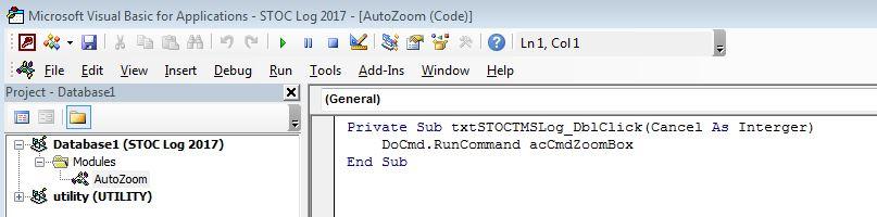 Access 2007 Shift +F2: VBA Double Click - Microsoft Community