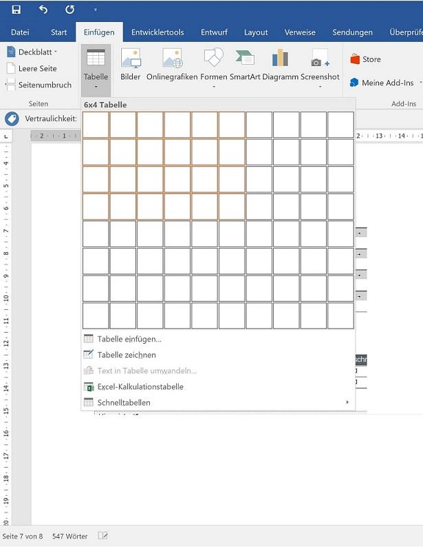 Festlegen Standard: Tabellen-Design und Aufzählungszeichen in ...