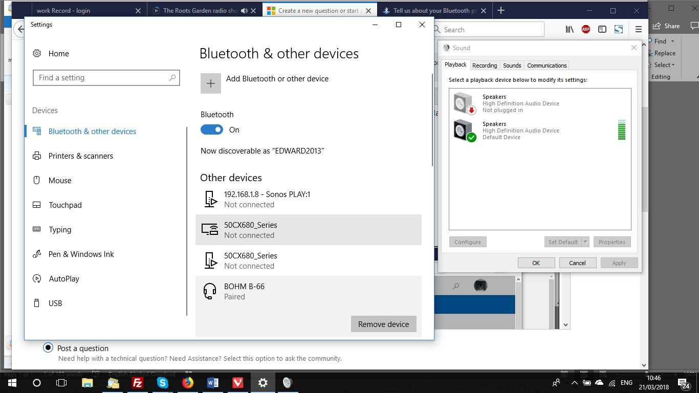 Bluetooth Not Working For My Headphones Worked For Ages Microsoft Community