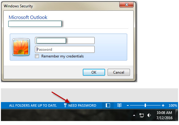 how to change microsoft outlook password