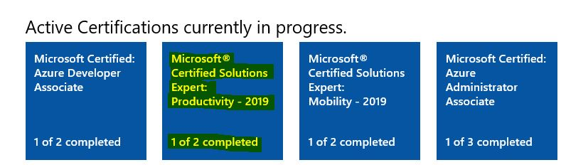 Microsoft Certified Solutions Expert: Productivity 2019
