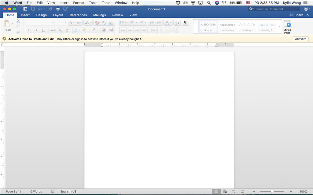 how to activate word