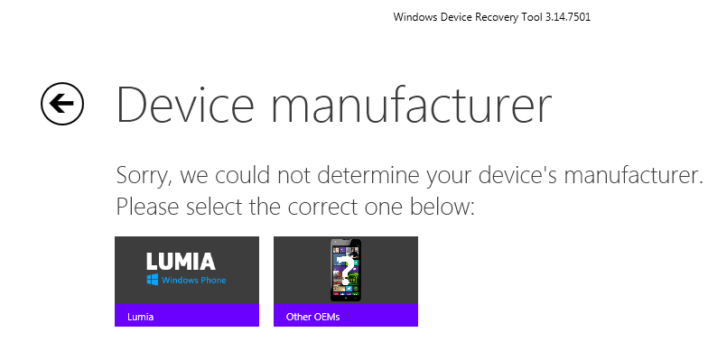 Why Lumia 1020 is not Detected by Windows Device Recovery Tool