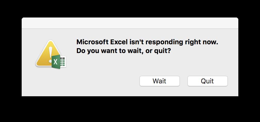 Mac Excel 2016 v15 29 - Hanging Problems - Microsoft Community