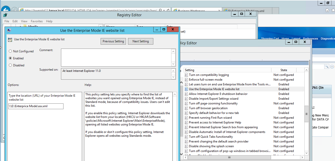Internet Explorer 11, document mode 5, web page is not rendering