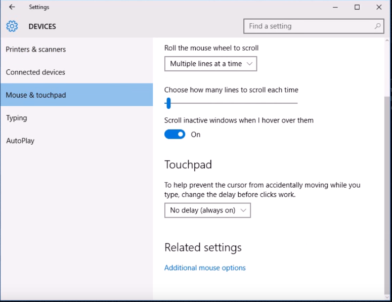 Touchpad Delay after Windows 10 Creator Update - Microsoft Community