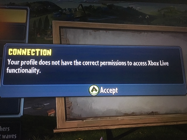 """Error message on Xbox 360 """"CONNECTION..."""" [IMG]"""