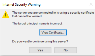 I can't clear this security certificate warning - Outlook ...