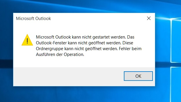 Outlook Startet Nicht