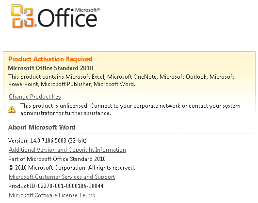 microsoft outlook activation
