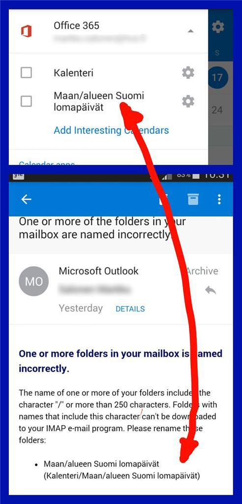 Outlook Päivitys