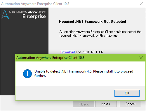 NET Framework 4.6.2 or a later update is already installed on this ...