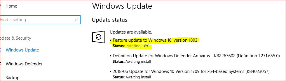Can I save a new Windows 10 version update into my local hard