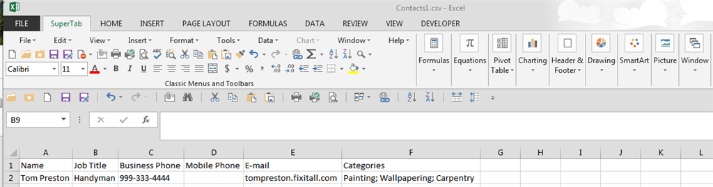 Importing Contacts with Multiple Categories Into Microsoft