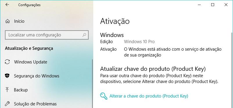Resultado de imagem para O Windows é ativado usando o serviço de ativação da sua organização