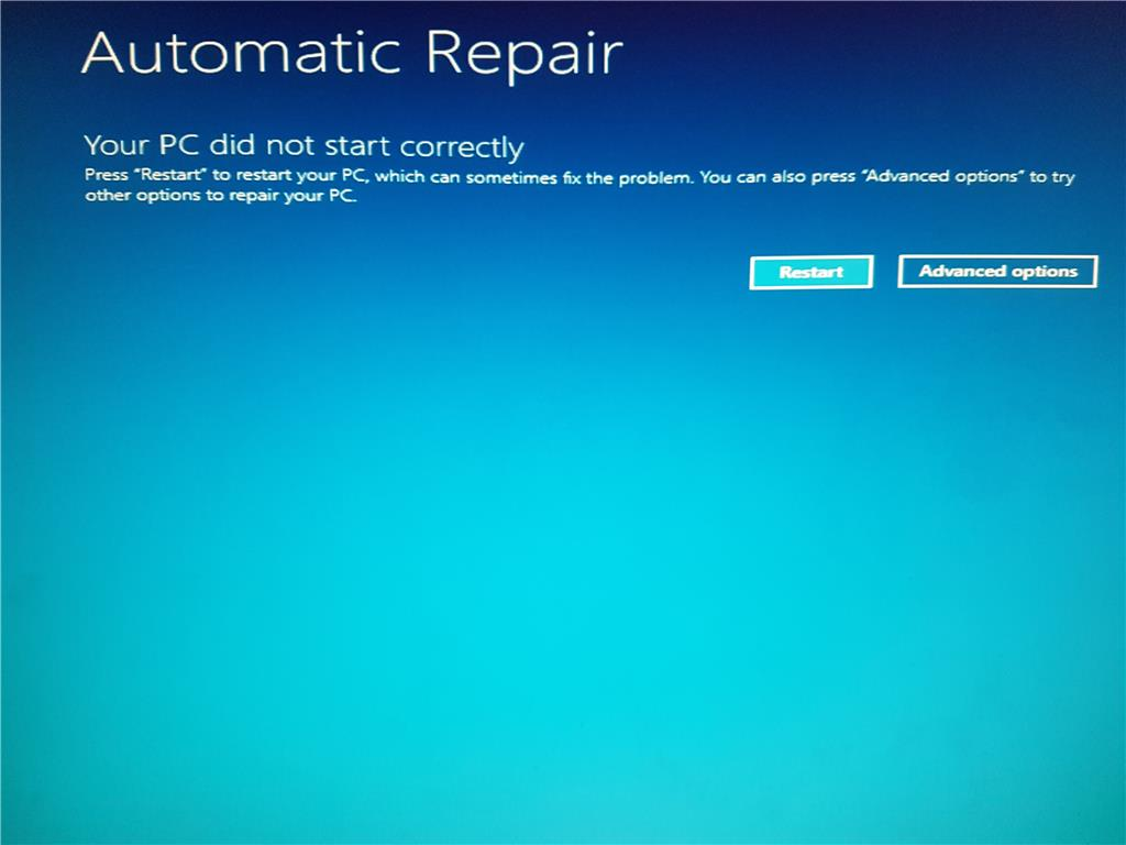 Windows 10 System Restore 0x8007005 Error using Installation