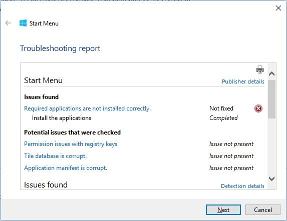 fix critical error start menu & cortana arent working windows 10
