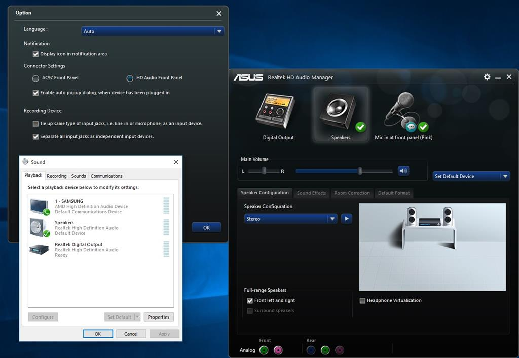 how to work realtek hd audio manager