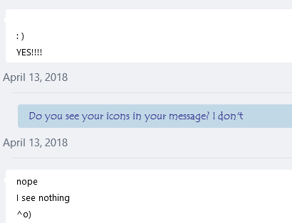Can't see emoticons in conversation in Skype for Business Basic in