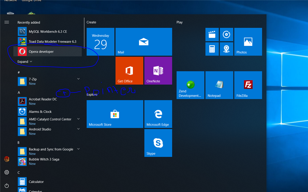 Windows 10 Start Menu Mouse Pointer Issue Microsoft Community