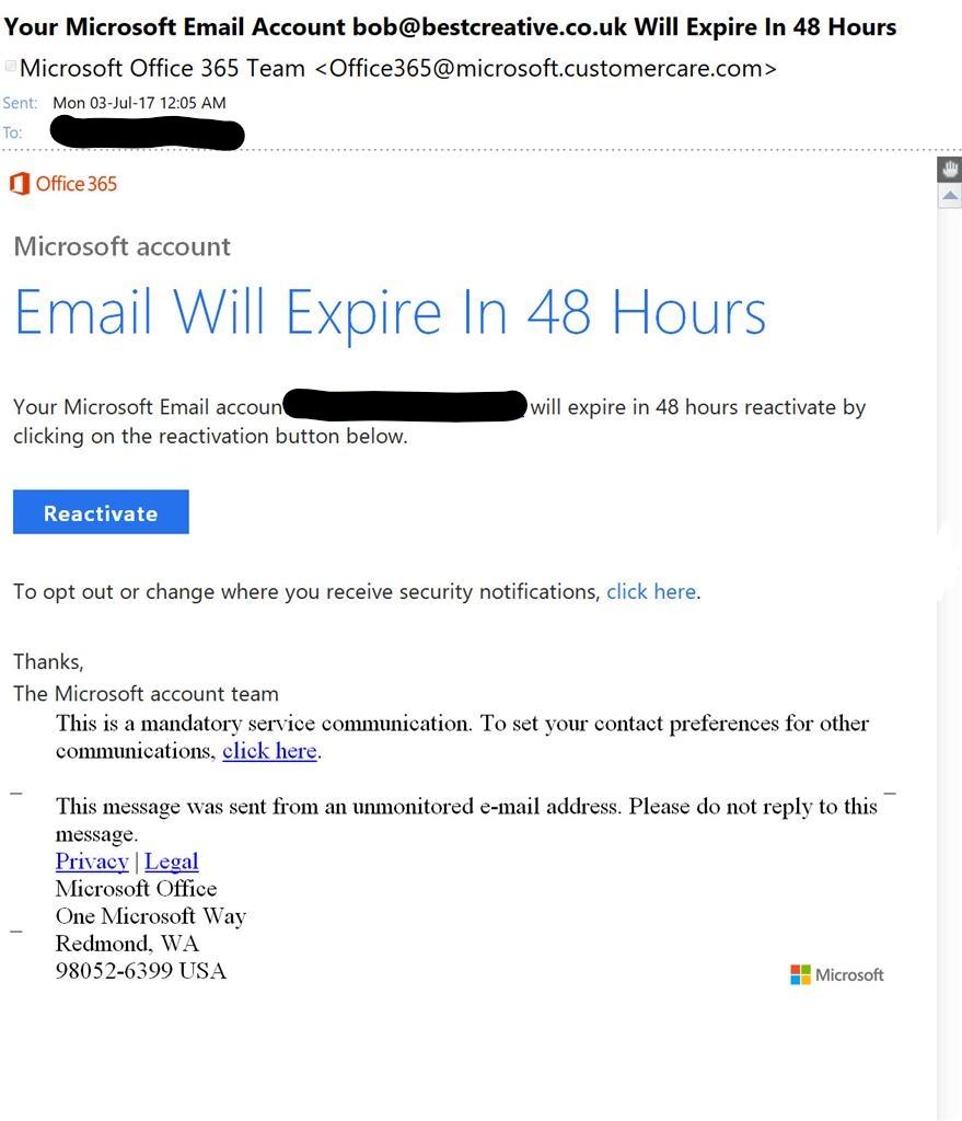 e mail microsoft 365