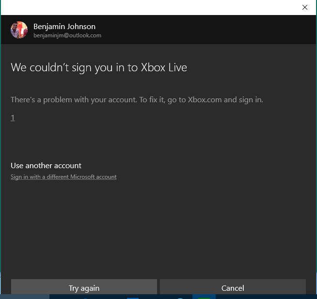 windows 10 cant sign into account after update