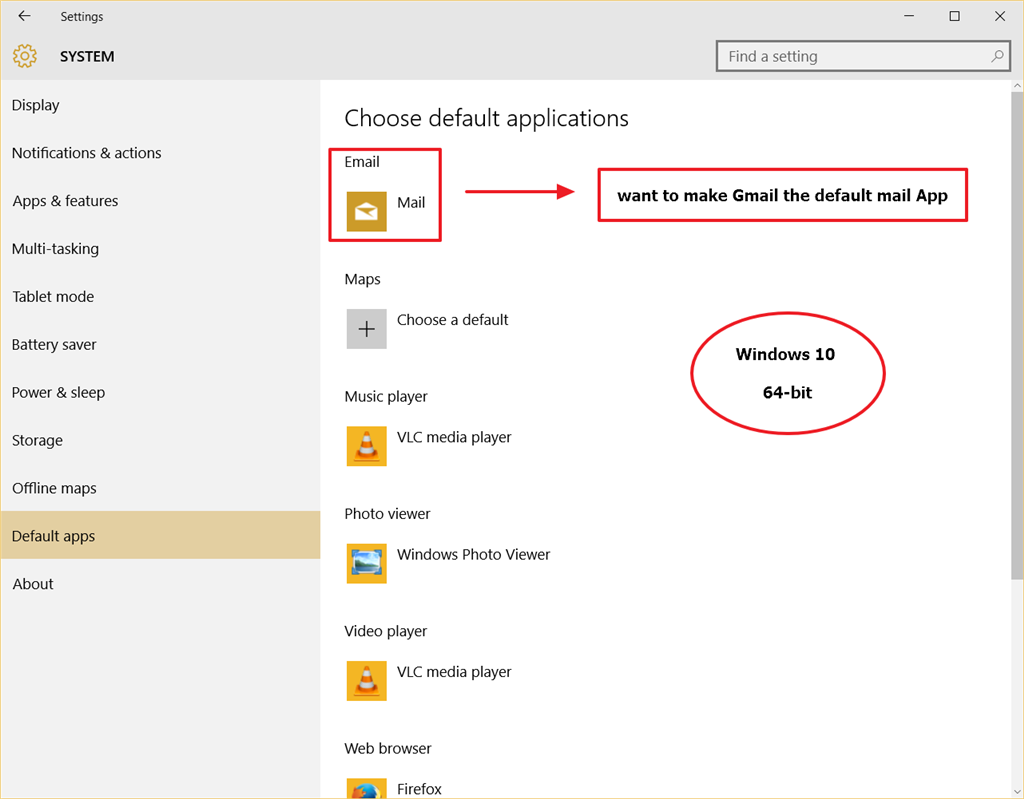 make gmail default