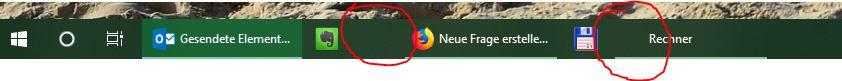App Icons werden in der Taskleiste und bei Cortana nicht angezeigt und