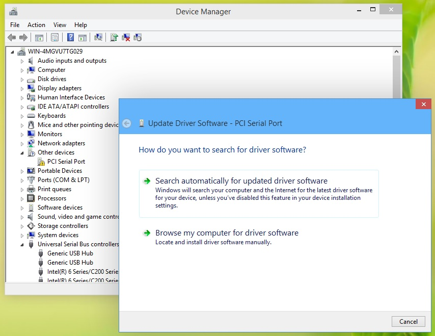 How to install and update hardware drivers in windows 10 this will launch the update driver software wizard which presents two options ccuart Image collections