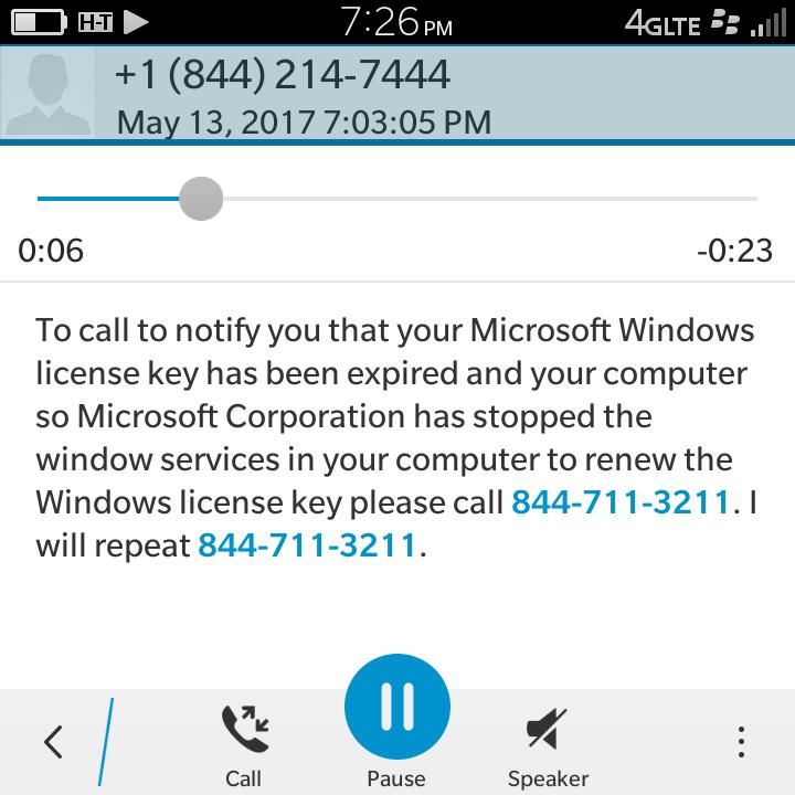 microsoft licensing key expired