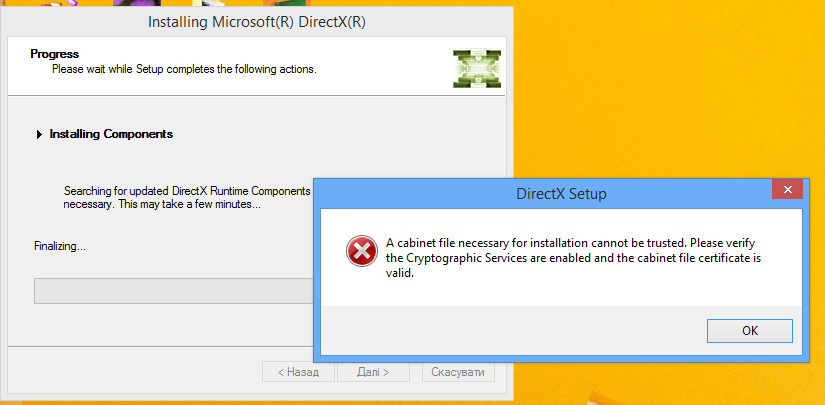 cant install Direct x - Microsoft Community