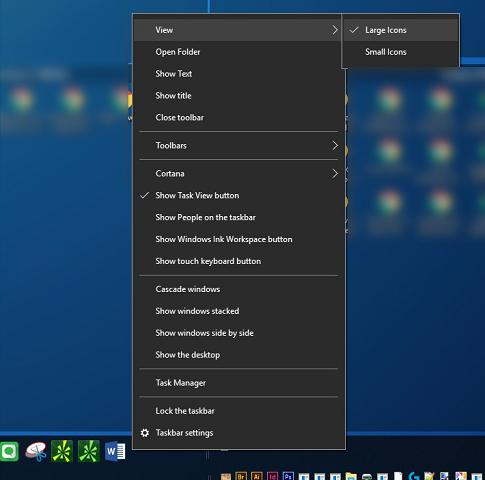custom icon size windows 10