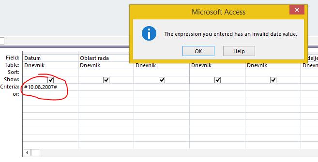 Access date criteria - Microsoft Community