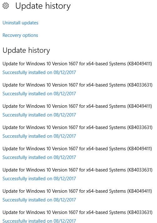 Windows Upgrade failing 0x8007001f - Win update broken