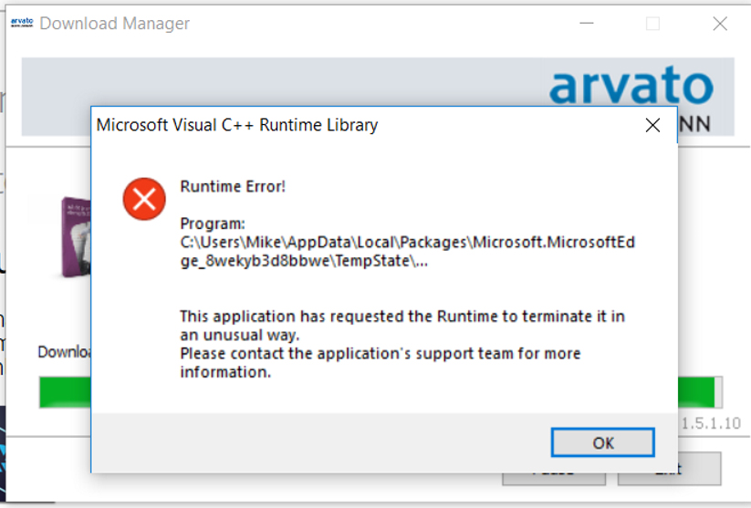 microsoft visual c runtime library download windows 10