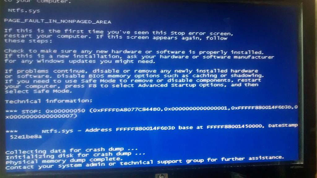 Bluescreen Ntfs.Sys