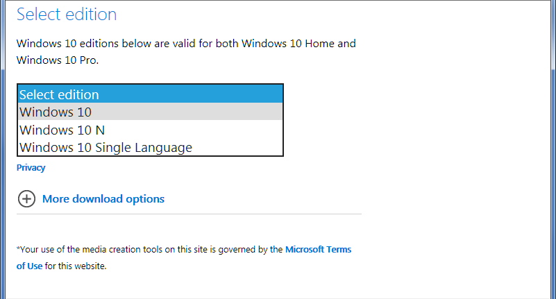 How to use Microsoft's Download web site to download an