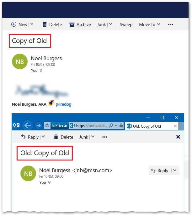 Outlook.com Cutting Off Start Of Subject Lines